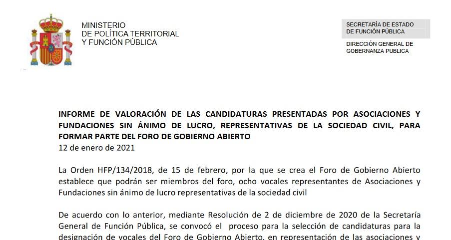 AEFP, una de las asociaciones seleccionadas para representar a la sociedad civil.