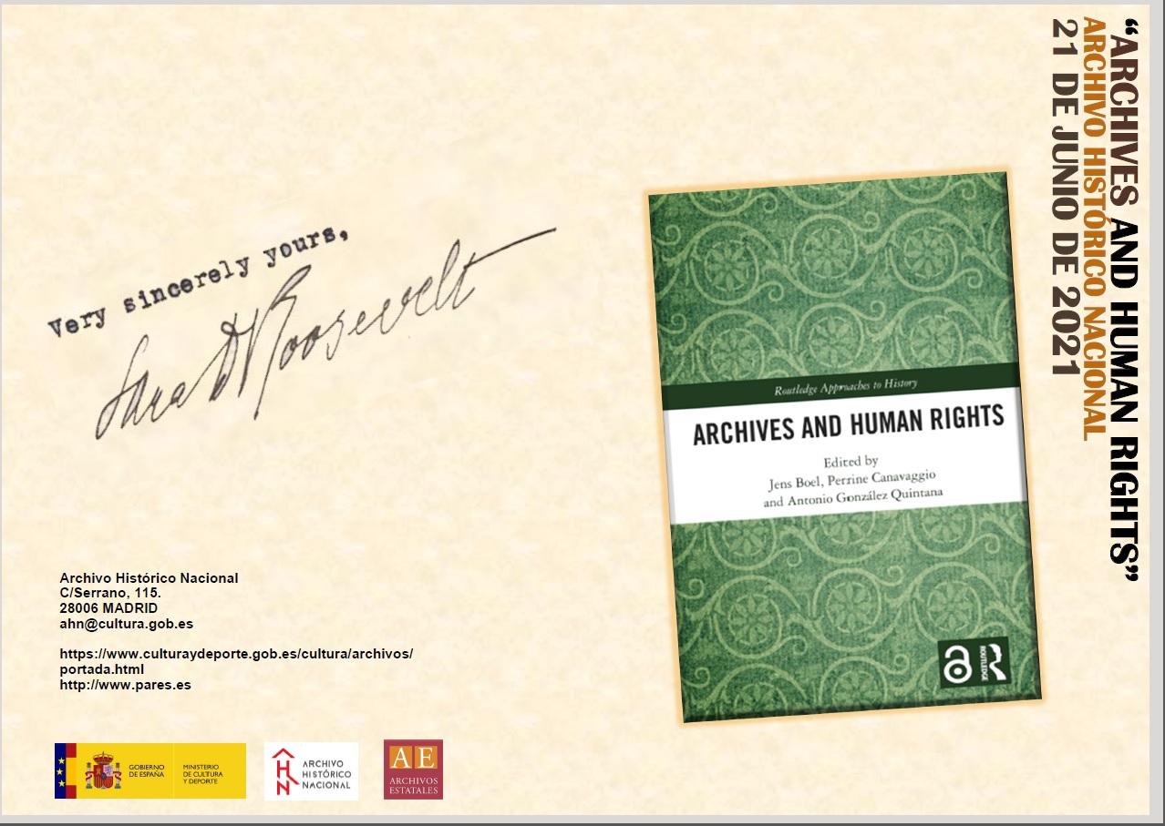 """Acto de presentación del libro """"Archives and Human Rights"""""""
