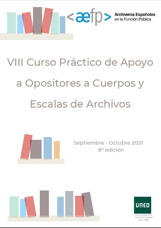 La AEFP convoca el VIII Curso Práctico de Apoyo a Opositores a Cuerpos y Escalas de Archivos